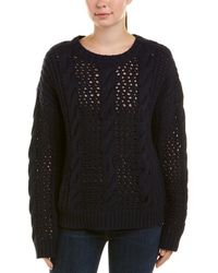 Sandro - Cable-knit Wool-blend Sweater - Lyst