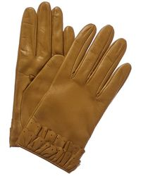 Portolano Bronze Olive Silk-lined Leather Gloves