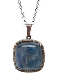 Adornia - Fine Jewellery Silver Kyanite Necklace - Lyst