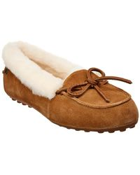 9dee74c5406c Ugg Dakota Suede Leather Lace Moccasin Slippers in Gray - Lyst