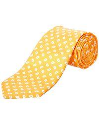 Façonnable - Orange Paisley Silk Tie - Lyst
