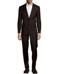 John Varvatos - Fitted Long Sleeve Woolen Suit - Lyst