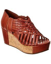 Chocolat Blu - Web Leather Wedge Sandal - Lyst