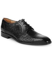 Saks Fifth Avenue - Woven Captoe Dress Shoe - Lyst