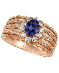 Le Vian - ? 14k Rose Gold 1.12 Ct. Tw. Diamond & Tanzanite Ring - Lyst