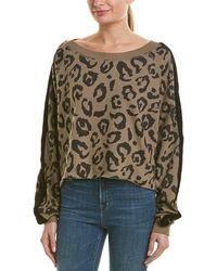 Chrldr - Boatneck Leopard Sweater - Lyst