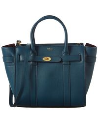 Mulberry - Small Zipped Bayswater Leather Tote - Lyst
