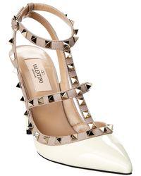 8831385441b Valentino - Cage Rockstud 100 Patent Ankle Strap Pump - Lyst