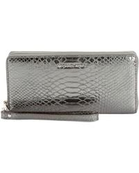 db1fc73081327 MICHAEL Michael Kors - Jet Set Travel Metallic Embossed- Continental  Wristlet Leather Continental Wristlet -