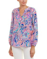 Lilly Pulitzer - Silk Top - Lyst