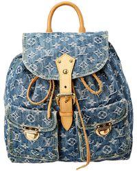 Louis Vuitton - Blue Monogram Denim Sac A Dos Gm - Lyst