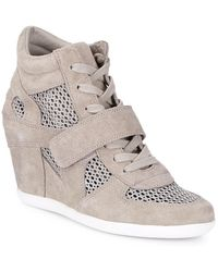 Ash - Bowie Suede & Mesh Wedge Trainer - Lyst
