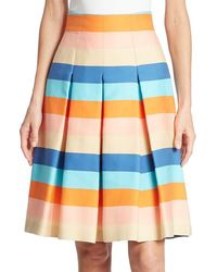 Akris - Striped-blend Skirt - Lyst