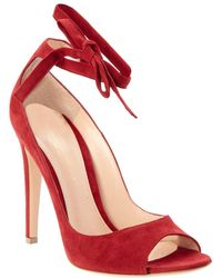 Gianvito Rossi - Suede Ankle Wrap Pump - Lyst