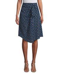 Jill Stuart - Tali Ruched Printed Skirt - Lyst