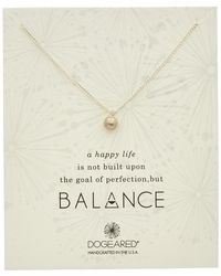Dogeared - Balance Silver Ball Chain Necklace - Lyst