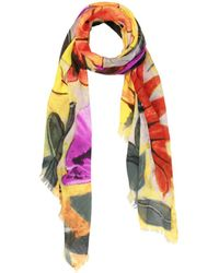 Saachi - Yellow Floral Scarf - Lyst