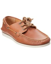 Frye - Briggs Leather Boat Shoe - Lyst