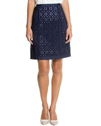 Robert Graham - Caterina Blue Eyelet Skirt - Lyst