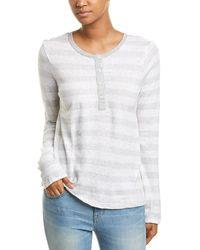 Splendid - Striped Linen-blend Henley Shirt - Lyst