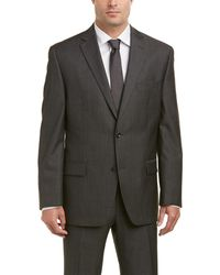 Michael Kors - Wool Suit With Flat Front Pant - Lyst