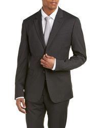 Moschino - Wool-blend Suit With Flat Front Pant - Lyst