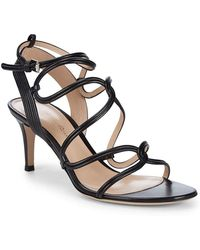 Gianvito Rossi - Strappy Leather Ankle Strap Sandal - Lyst