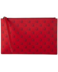 Gucci - Ghost Leather Zip Pouch - Lyst
