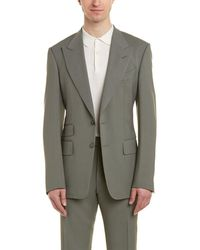 Tom Ford - Shelton 2pc Wool-blend Suit With Flat Pant - Lyst