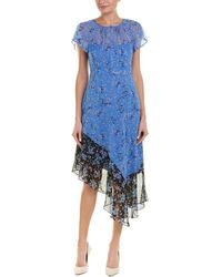 Nanette Lepore - Silk Midi Dress - Lyst