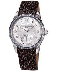 Frederique Constant - Maxime Manufacture Diamond Watch - Lyst