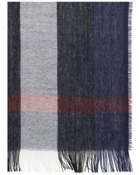 Burberry - Lightweight Check Wool & Cashmere Long Scarf - Lyst