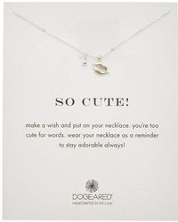 Dogeared - Silver So Cute Necklace - Lyst