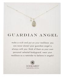 Dogeared - Silver Guardian Angle Necklace - Lyst