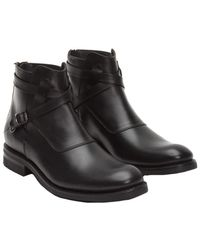 Frye - Stone Cross Strap Leather Boot - Lyst