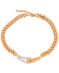Swarovski - Crystal Every 18k Rose Gold Plated Collar Necklace - Lyst