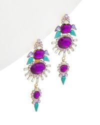 Zenzii - Crystal Angel Wing Drop Earrings - Lyst