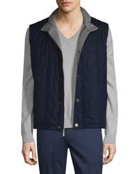 Brooks Brothers - Collar Quilted Vest - Lyst