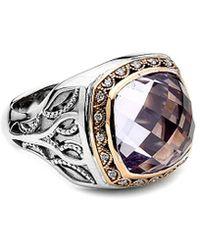 Tacori - 18k & Silver 8.11 Ct. Tw. Amethyst & Diamond Ring - Lyst