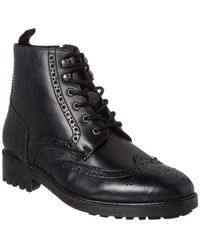 Kenneth Cole - Maraq Leather Lug Boot - Lyst