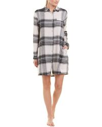Donna Karan - Plaid Shirt Dress - Lyst