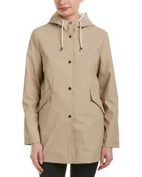French Connection - Hooded Slicker Raincoat - Lyst