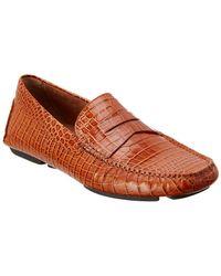 Donald J Pliner - Vinco5 Leather Driving Loafer - Lyst