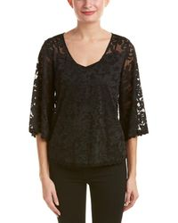 Ella Moss - Embroidered Lace Top - Lyst