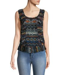 Plenty by Tracy Reese - Pleated Shell Printed Top - Lyst