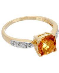 Effy - Fine Jewelry 14k 2.15 Ct. Tw. Diamond & Citrine Ring - Lyst