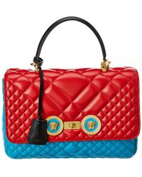 dfeff062d2 Versace Bauletto Leather Bag in Black - Save 10% - Lyst