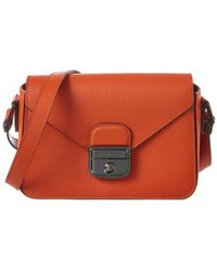 Longchamp - Le Pliage Heritage Small Leather Shoulder Bag - Lyst bc04366abdfb9