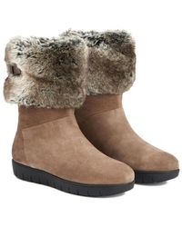 Aquatalia - Willow Waterproof Suede And Fur Boot - Lyst