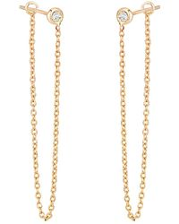 Ariana Rabbani - 14k 0.10 Ct. Tw. Diamond Drop Earrings - Lyst